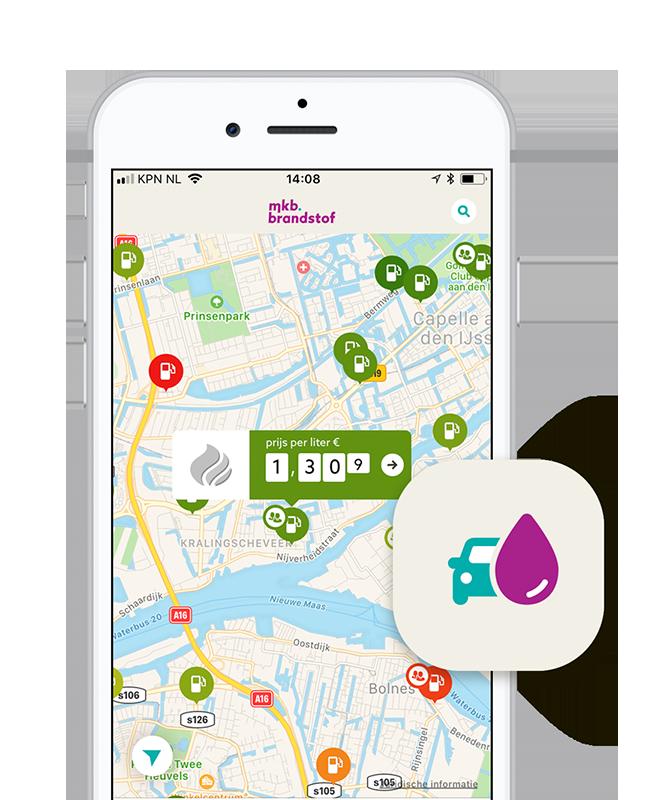 Alle actuele tankprijzen in Nederland met MKB Brandstof app