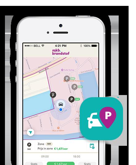 Parkeren met MKB Brandstof app