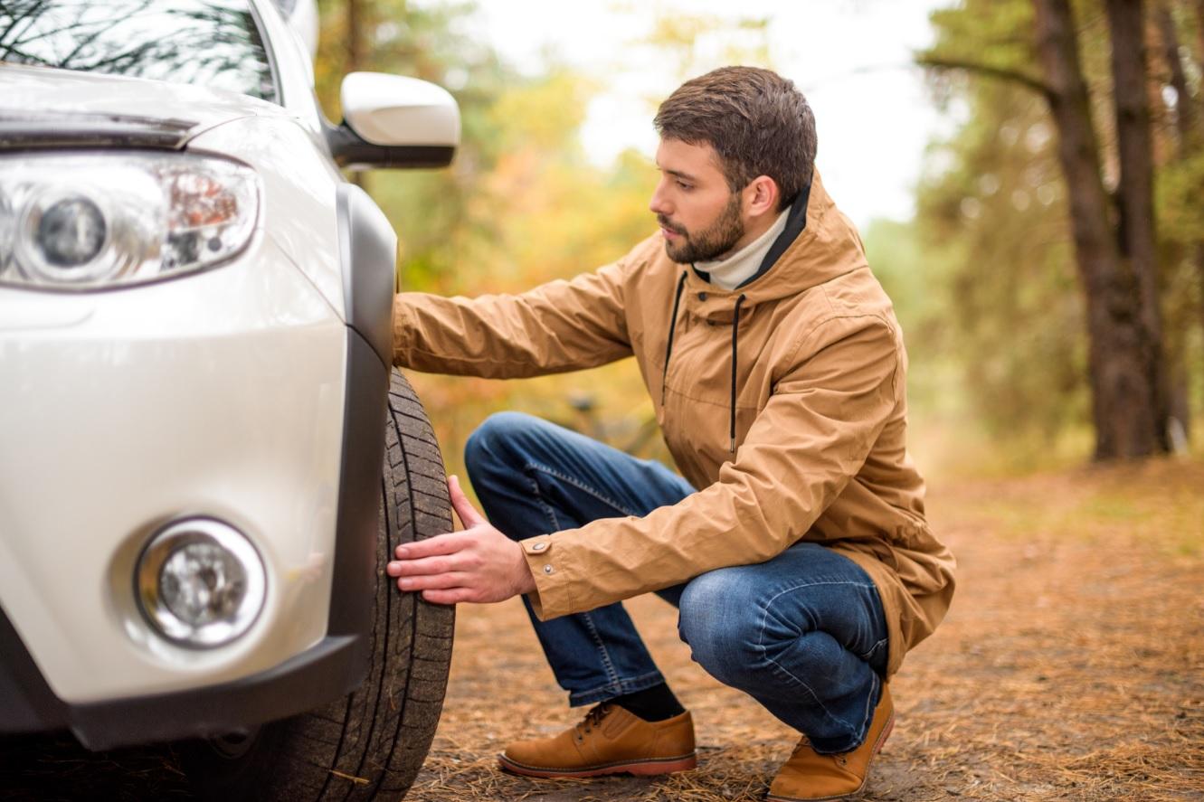 Auto checken voor vertrek